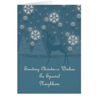 Neighbors Reindeer Christmas Card