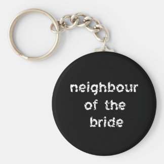 Neighbour of the Bride Keychain