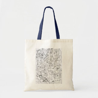 Neighbours doodle tote bag