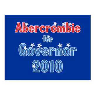Neil Abercrombie for Governor 2010 Star Design Postcard