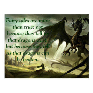 Neil Gaiman Quote on Fairytales Postcard