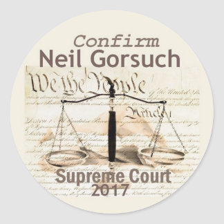 Neil GORSUCH Supreme Court Sticker