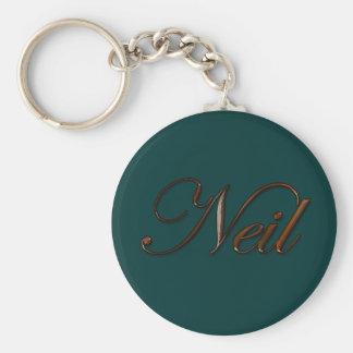NEIL Name-Branded Gift Keychain or Zipper-pull