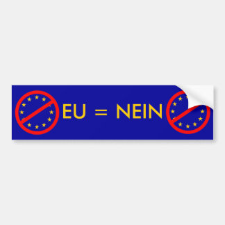 NEIN to the EU Bumper Sticker