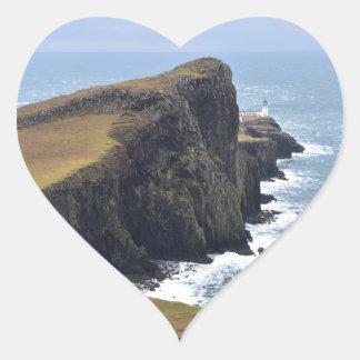 Neist Point Lighthouse Heart Sticker