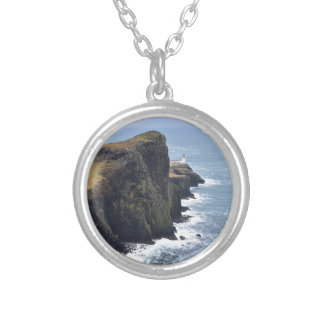 Neist Point Lighthouse Silver Plated Necklace