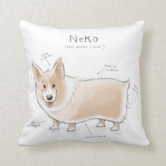 Neko Throw Pillow