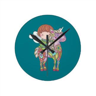 Nelf and its unicorn round clock