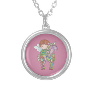 Nelf and its unicorn silver plated necklace