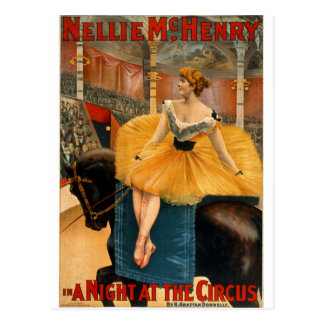 Nellie McHenry in A night at the Circus Postcard