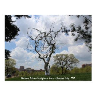 Nelson Atkins Sculpture Park Metal Tree # 1 Postcard