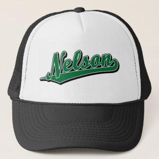 Nelson in Green Trucker Hat