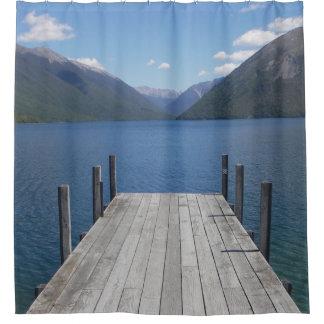 Nelson Lakes St Arnaud NZ shower curtain