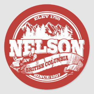Nelson Old Circle Red Stickers