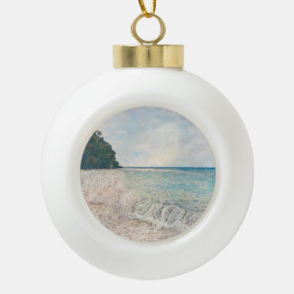 Neltjeberg Break Ceramic Ball Christmas Ornament