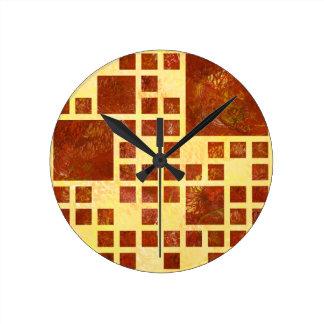 Nemissos V1 - painted squares Wall Clocks