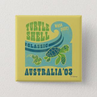 Nemo and Crush - Australia '03 2 Inch Square Button