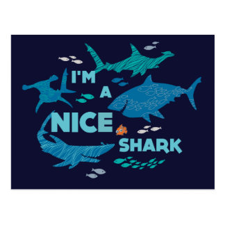 Nemo and Sharks - I'm A Nice Shark Postcard