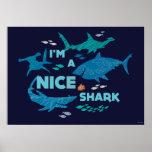 Nemo and Sharks - I'm A Nice Shark Poster