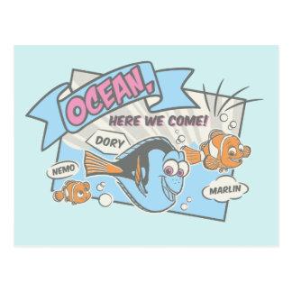 Nemo, Dory & Marlin | Ocean Here we Come Postcard