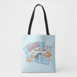 Nemo, Dory & Marlin   Ocean Here we Come Tote Bag