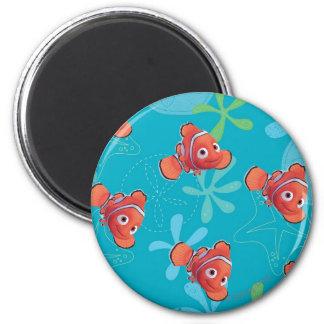 Nemo Teal Pattern 2 Inch Round Magnet