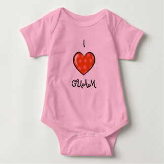 Nene Girl: I LOVE GUAM Baby Bodysuit