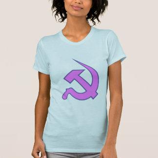 Neo Dark Lilac & Blue Hammer & Sickle on Blue Tshirts