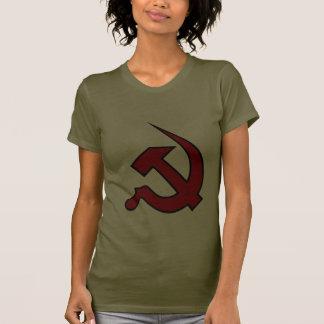 Neo Dark Red & Black Hammer & Sickle on Women's T-shirts