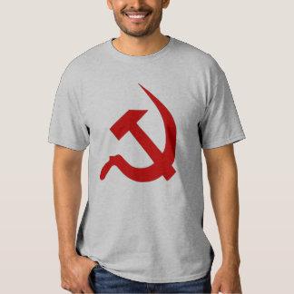 Neo Dark Red Hammer & Sickle on Grey Shirt