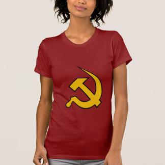Neo Dark Yellow & Black Hammer & Sickle on Red T-shirt