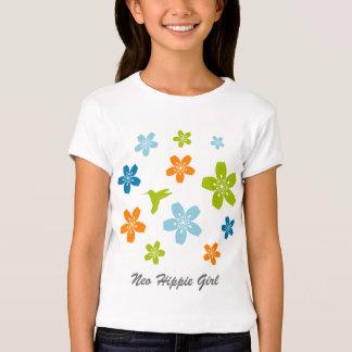 Neo-Hippie Floral T-shirt Design