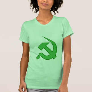 Neo Light & Dark Green Hammer & Sickle Tee Shirts