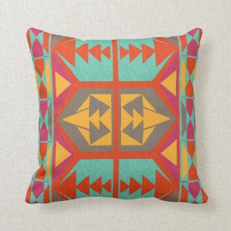 Neo Native Tribal Throw Pillow