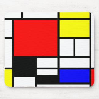 Neo-plasticism Mondrian style Mouse Pad