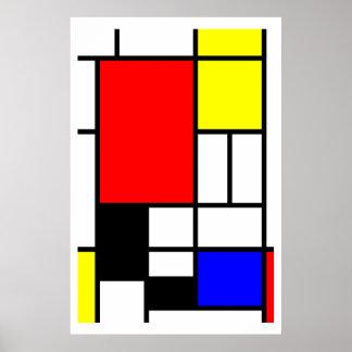 Neo-plasticism Mondrian style Poster