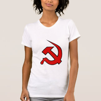 Neo Red & Black Hammer & Sickle on Women's Tee Shirts