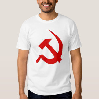 Neo Red Hammer & Sickle on White T-shirt