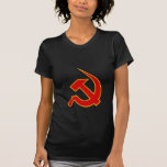 Neo Red & Yellow Hammer & Sickle on Black T-shirts
