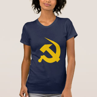 Neo-Thick Bright Yellow Hammer & Sickle T-shirt