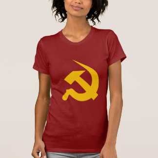 Neo-Thick Chrome Yellow Hammer & Sickle T-shirt