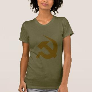Neo-Thick Chrome Yellow Hammer & Sickle Tee Shirts
