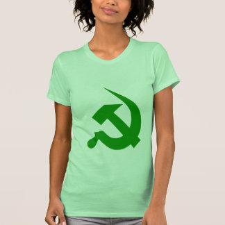Neo-Thick Dark Green Hammer & Sickle T Shirts