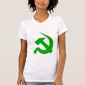 Neo-Thick Light Green Hammer & Sickle on Women's Tees