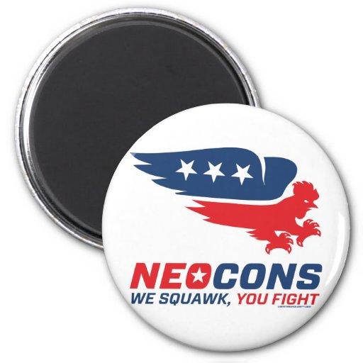 Neocon Chickenhawk Logo Magnets