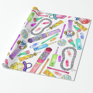 Neon 80's 90's Retro Funny Candy Pattern