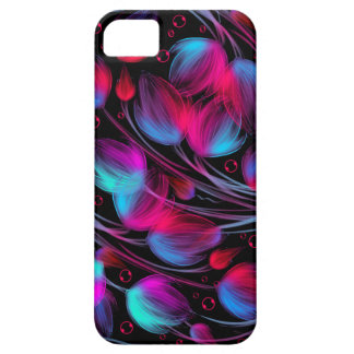 Neon Abstract Hot Pink Turquoise Black Modern iPhone 5 Covers