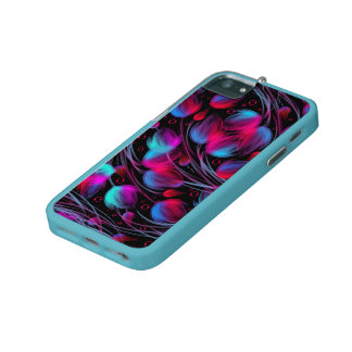 Neon Abstract Hot Pink Turquoise Black Modern iPhone 5/5S Cases