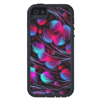 Neon Abstract Hot Pink Turquoise Black Modern iPhone 5 Cases