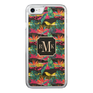 Neon Abstract Tropical Texture Pattern Carved iPhone 8/7 Case
